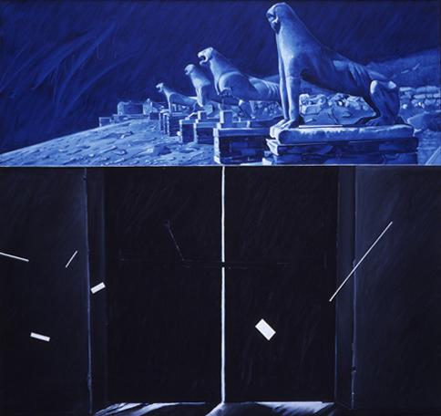 1991, huile sur toile, 150x160 cm