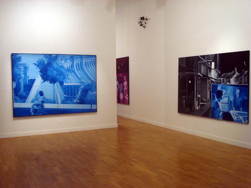 Vue de l'exposition Grands Formats Galerie IUFM Confluence(s), Université Lyon 1, Lyon, 2012