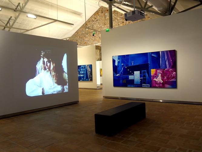 Vue de l'exposition Monory  Fonds Hélène et Edouard Leclerc pour la culture, Aux Capucins, Landerneau, 2014