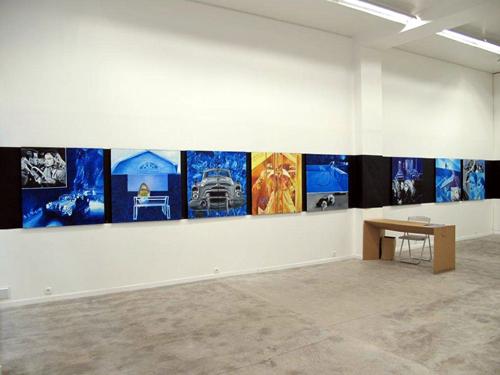 Vue de l'exposition Petits Formats Galerie Anne-Marie et Roland Pallade, Lyon, 2012